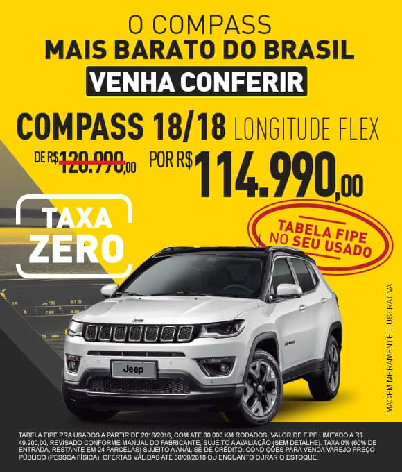 Jeep Via Motors Compass Fipe